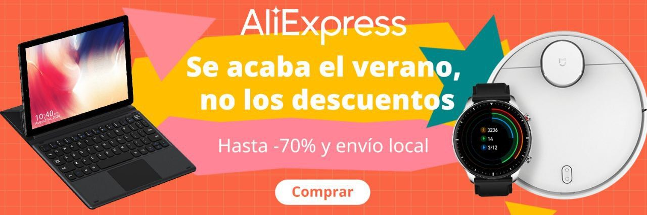 Promoción fin de verano en Aliexpress, cupones mejores ofertas comprar
