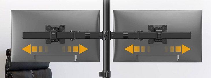 Soporte doble monitor hasta 27 a 12€ en Amazon img