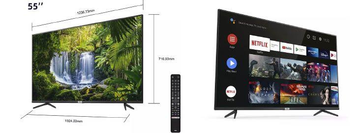 TV TCL 55 pulgadas con Android TV, 4K y HDR a 399€ en Mediamarkt imagen