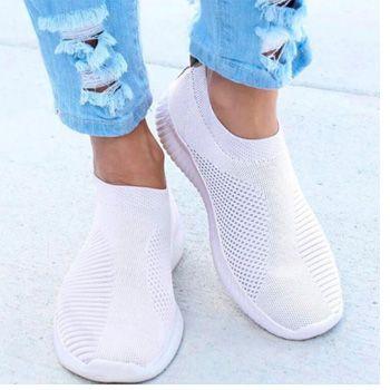 Zapatillas planas blancas para mujer