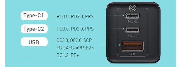 Cargador rápido 65W USB-C con 3 puertos a 27,48€ en Aliexpress 2