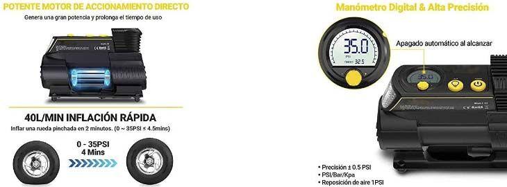 Compresor de aire para coche Autlead C2 por 19,79€ en Amazon imagen