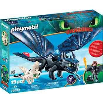 Playmobil Hipo y Desdentao con Bebé Dragón