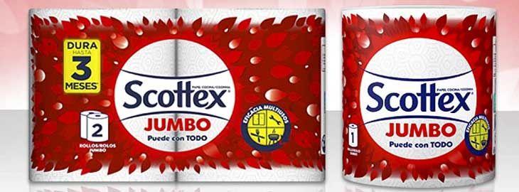 Pack 18 rollos de papel de cocina Scottex Jumbo por solo 27,64€ en Amazon imagen