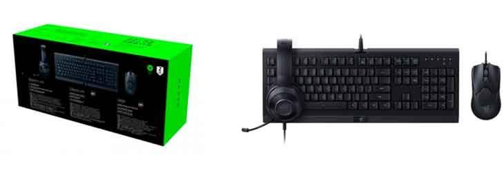 Pack gaming Razer Power Up teclado + ratón + auriculares 2