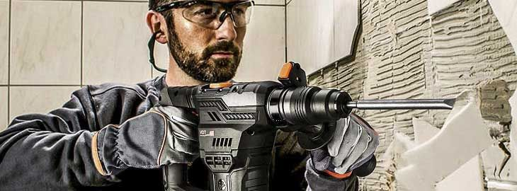 Taladro martillo percutor profesional con maleta y accesorios por 54,99€ en Amazon 2