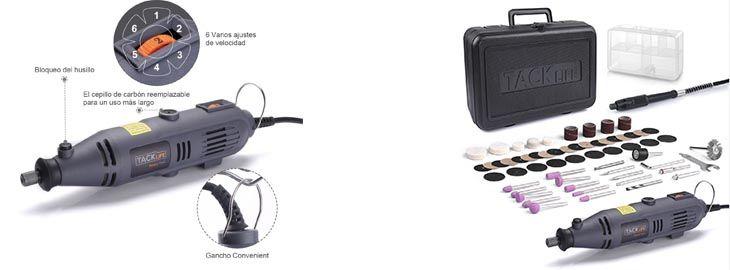 Amoladora eléctrica con 60 accesorios a 18,14€ en Wisecart 2