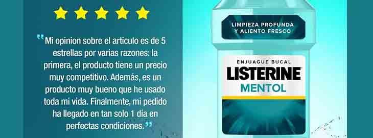 Pack 2 Enjuague bucal Listerine por 6,29€ en Amazon pic