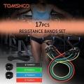 Juego de 17 bandas elásticas Tomshoo para hacer fitness en Amazon