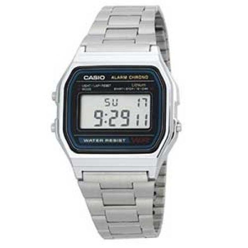 -28% Reloj Casio A158WA-1DF metálico por 17 59e56542ced4