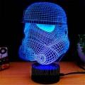 Lámpara de noche 3D a color de Star Trek en Gearbest