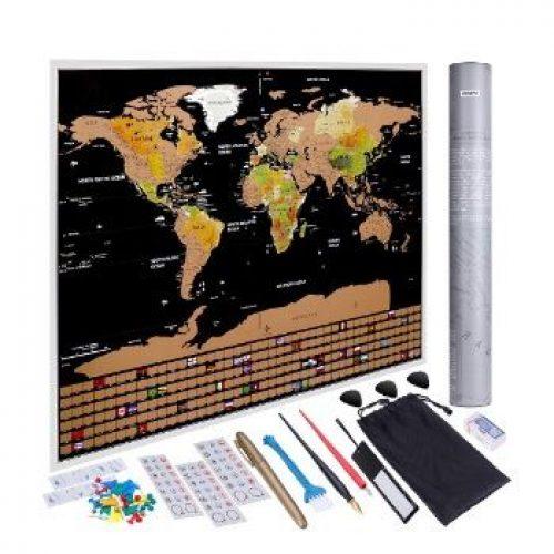 Mapamundi Anpro para rascar con 46 accesorios por 7,49€ en Amazon